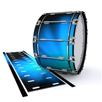 Dynasty 1st Generation Bass Drum Slip - Blue Light Rays (Themed)
