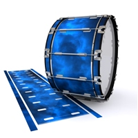 Dynasty 1st Generation Bass Drum Slip - Blue Smokey Clouds (Themed)