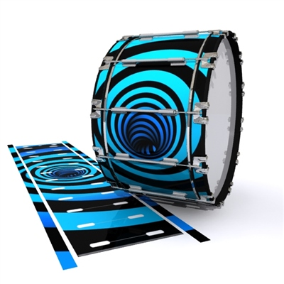 Dynasty 1st Generation Bass Drum Slip - Blue Vortex Illusion (Themed)