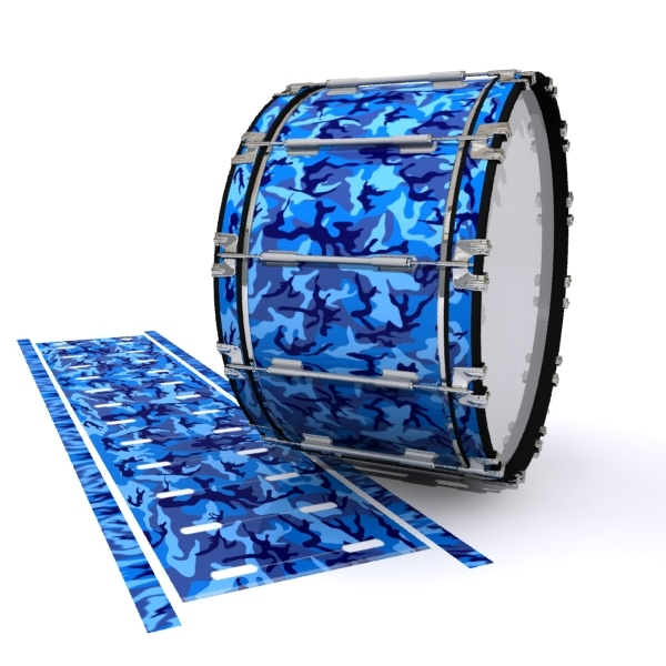 Dynasty 1st Generation Bass Drum Slip - Blue Wing Traditional Camouflage (Blue)