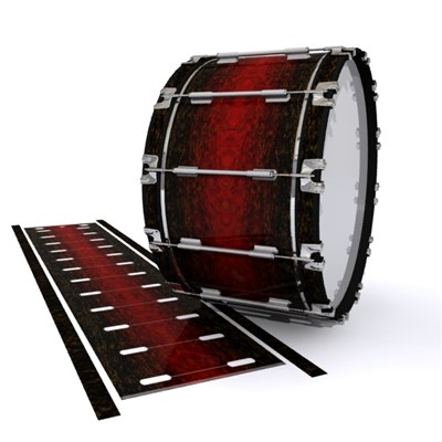 Dynasty 1st Generation Bass Drum Slip - Burgundy Rock (Red)