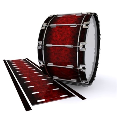 Dynasty 1st Generation Bass Drum Slip - Burning Embers (red)