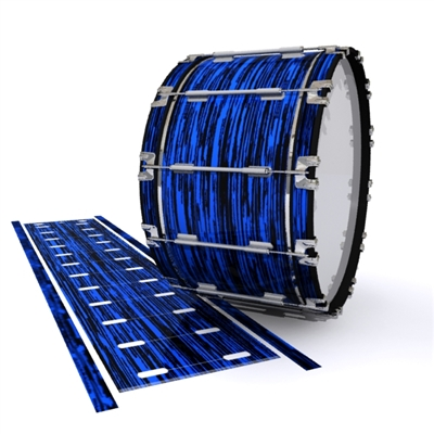 Dynasty 1st Generation Bass Drum Slip - Chaos Brush Strokes Blue and Black (Blue)