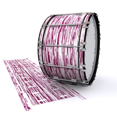 Dynasty 1st Generation Bass Drum Slip - Chaos Brush Strokes Maroon and White (Red)