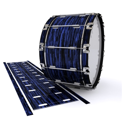 Dynasty 1st Generation Bass Drum Slip - Chaos Brush Strokes Navy Blue and Black (Blue)