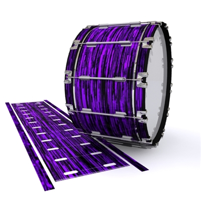 Dynasty 1st Generation Bass Drum Slip - Chaos Brush Strokes Purple and Black (Purple)