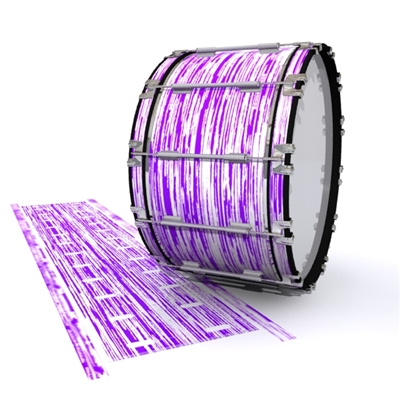 Dynasty 1st Generation Bass Drum Slip - Chaos Brush Strokes Purple and White (Purple)
