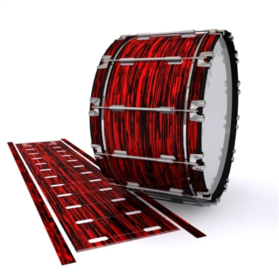 Dynasty 1st Generation Bass Drum Slip - Chaos Brush Strokes Red and Black (Red)