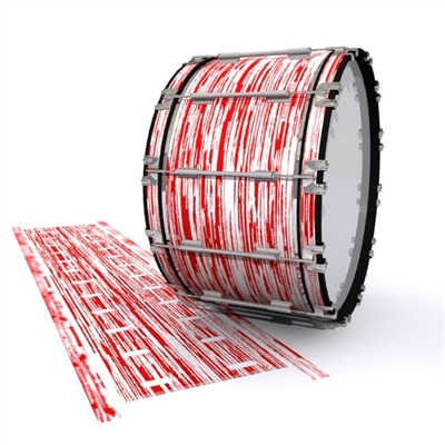 Dynasty 1st Generation Bass Drum Slip - Chaos Brush Strokes Red and White (Red)