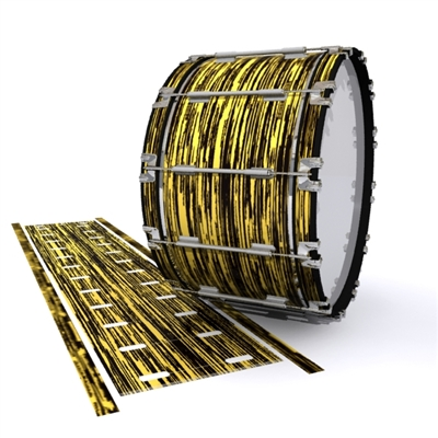 Dynasty 1st Generation Bass Drum Slip - Chaos Brush Strokes Yellow and Black (Yellow)
