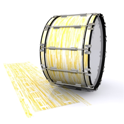 Dynasty 1st Generation Bass Drum Slip - Chaos Brush Strokes Yellow and White (Yellow)