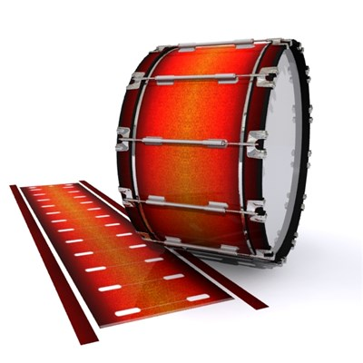 Dynasty 1st Generation Bass Drum Slip - Coral Sunset (Orange)