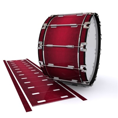 Dynasty 1st Generation Bass Drum Slip - Crimson Depth (Red)