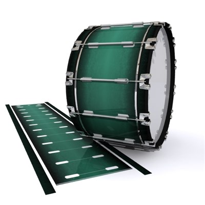 Dynasty 1st Generation Bass Drum Slip - Deep Viridian Fade (Green)