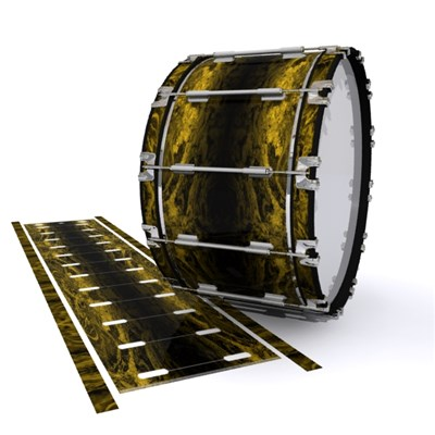 Dynasty 1st Generation Bass Drum Slip - Desert GEO Marble Fade (Yellow)