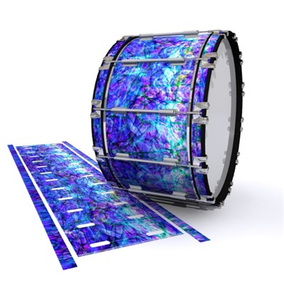Dynasty 1st Generation Bass Drum Slip - Electro Blue Plasma (Blue) (Purple)