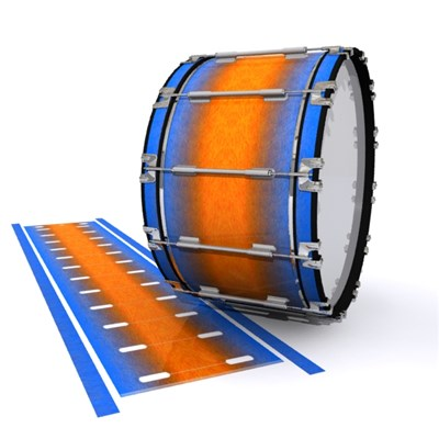 Dynasty 1st Generation Bass Drum Slip - Exuma Sunset (Blue) (Orange)