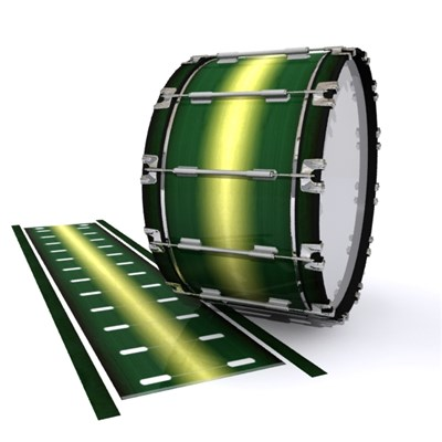 Dynasty 1st Generation Bass Drum Slip - Floridian Maple (Green) (Yellow)