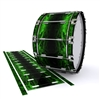 Dynasty 1st Generation Bass Drum Slip - Forest GEO Marble Fade (Green)