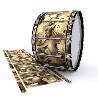 Dynasty 1st Generation Bass Drum Slip - Golden Gears (Themed)