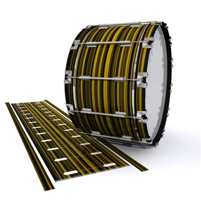 Dynasty 1st Generation Bass Drum Slip - Gold Horizon Stripes (Yellow)