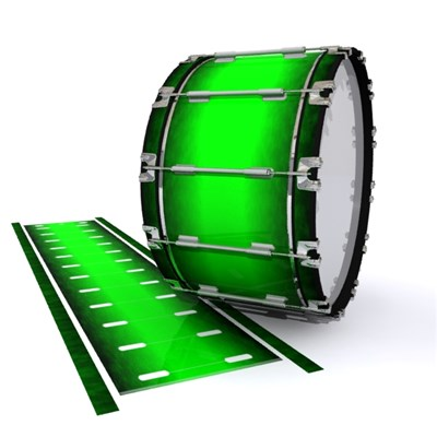 Dynasty 1st Generation Bass Drum Slip - Green Grain Fade (Green)