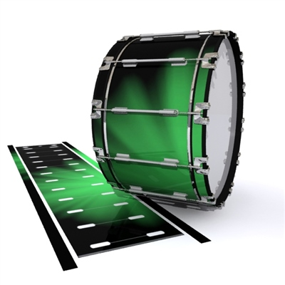 Dynasty 1st Generation Bass Drum Slip - Green Light Rays (Themed)