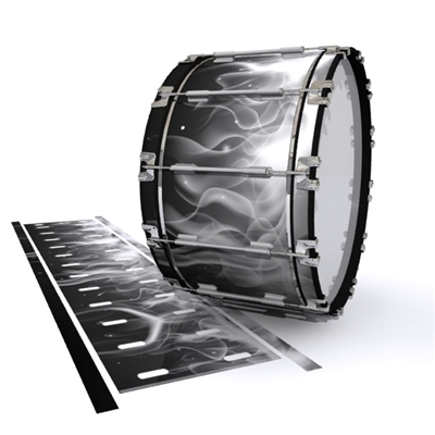 Dynasty 1st Generation Bass Drum Slip - Grey Flames (Themed)