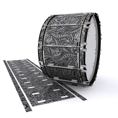 Dynasty 1st Generation Bass Drum Slip - Grey Paisley (Themed)