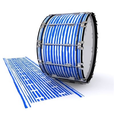 Dynasty 1st Generation Bass Drum Slip - Lateral Brush Strokes Blue and White (Blue)