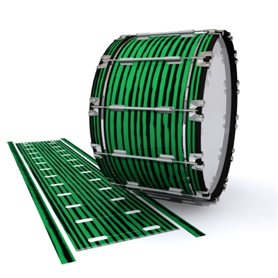 Dynasty 1st Generation Bass Drum Slip - Lateral Brush Strokes Green and Black (Green)