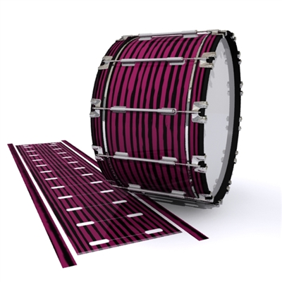 Dynasty 1st Generation Bass Drum Slip - Lateral Brush Strokes Maroon and Black (Red)