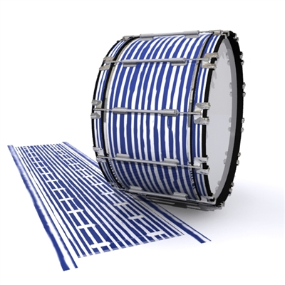 Dynasty 1st Generation Bass Drum Slip - Lateral Brush Strokes Navy Blue and White (Blue)