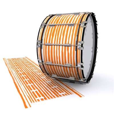 Dynasty 1st Generation Bass Drum Slip - Lateral Brush Strokes Orange and White (Orange)