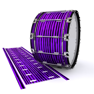 Dynasty 1st Generation Bass Drum Slip - Lateral Brush Strokes Purple and Black (Purple)