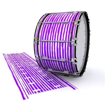Dynasty 1st Generation Bass Drum Slip - Lateral Brush Strokes Purple and White (Purple)