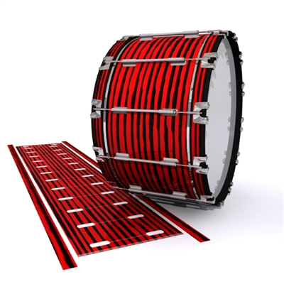 Dynasty 1st Generation Bass Drum Slip - Lateral Brush Strokes Red and Black (Red)