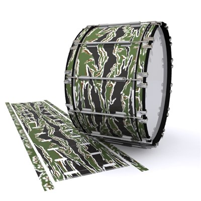 Dynasty 1st Generation Bass Drum Slip - Liberator Tiger Camouflage (Green)
