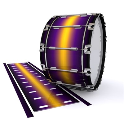 Dynasty 1st Generation Bass Drum Slip - Light Barrier Fade (Purple) (Yellow)