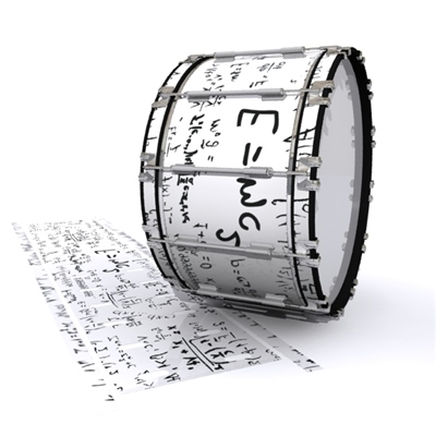 Dynasty 1st Generation Bass Drum Slip - Mathmatical Equations on White (Themed)