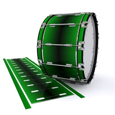 Dynasty 1st Generation Bass Drum Slip - Molecular Green Fade (Green)