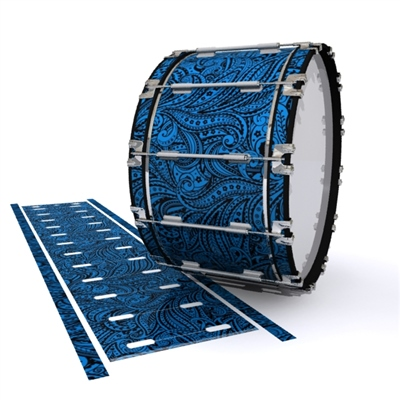 Dynasty 1st Generation Bass Drum Slip - Navy Blue Paisley (Themed)