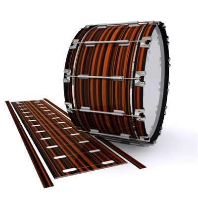 Dynasty 1st Generation Bass Drum Slip - Orange Horizon Stripes (Orange)