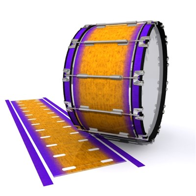 Dynasty 1st Generation Bass Drum Slip - Purple Canyon Rain (Orange) (Purple)