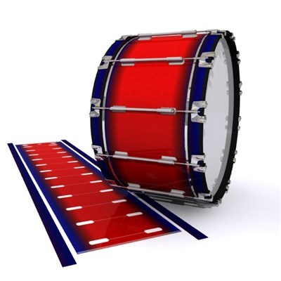 Dynasty 1st Generation Bass Drum Slip - Red Arrow (Red) (Blue)