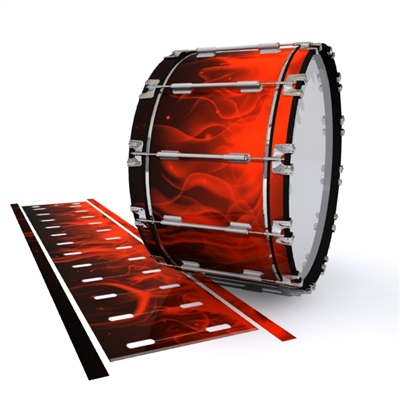 Dynasty 1st Generation Bass Drum Slip - Red Flames (Themed)