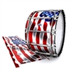 Dynasty Custom Elite Bass Drum Slip - Stylized American Flag