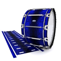Dynasty Custom Elite Bass Drum Slip - Andromeda Blue Rosewood (Blue)