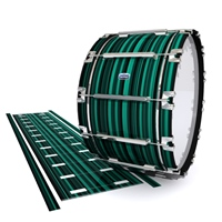 Dynasty Custom Elite Bass Drum Slip - Aqua Horizon Stripes (Aqua)