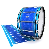 Dynasty Custom Elite Bass Drum Slip - Aquatic Blue Fade (Blue)